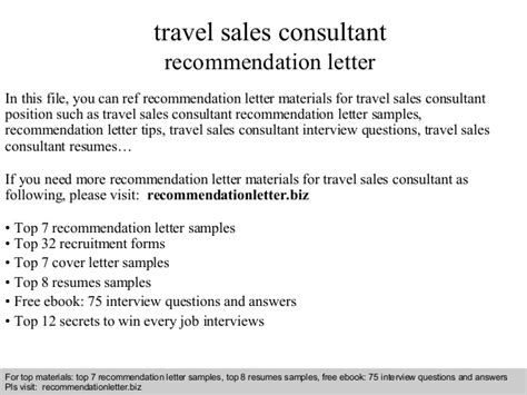 Travel Sales Consultant Cover Letter by Travel Sales Consultant Recommendation Letter