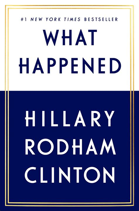 what happened book by rodham clinton official
