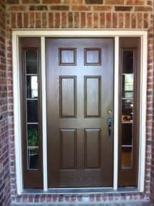 brown front door doors with sidelights home exterior painting brown