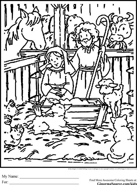 nativity coloring page pdf christmas printable coloring pages nativity high quality
