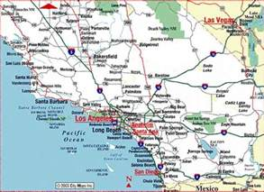 map of of southern california map of southern california map travel