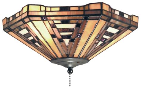 Stained Glass Ceiling Fan Light Kit by Style Stained Glass Ceiling Fan Light Kit 12 Quot W Ebay