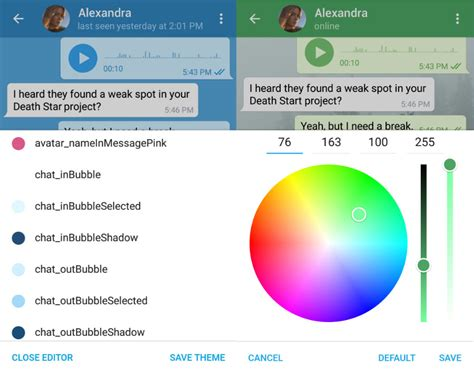 themes editor for android telegram theme editor nun auch f 252 r android ios nutzer
