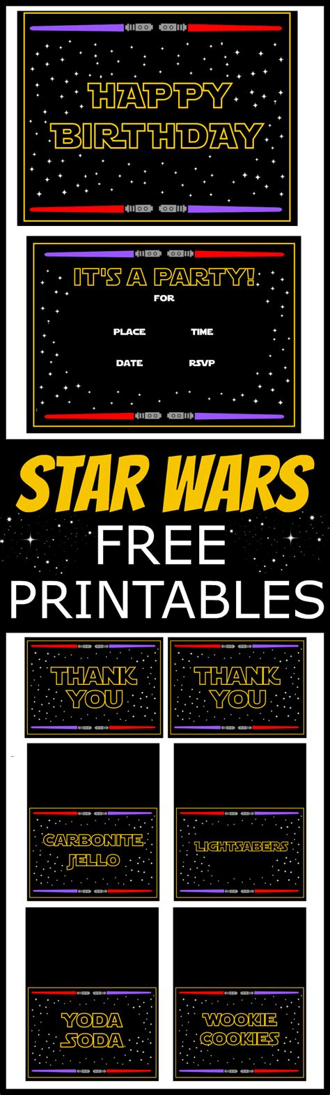 printable decorations star wars star wars free printables catch my party
