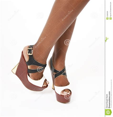 Wedges Simple Fladeo M 2 wedges shoes on legs stock image image of