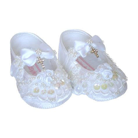 christening shoes for baby baby shoes christening beaded with diamante cross