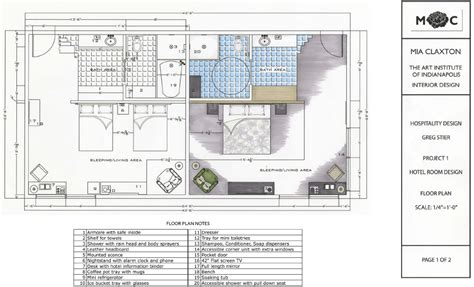 hotel room layout aim to design august 2011