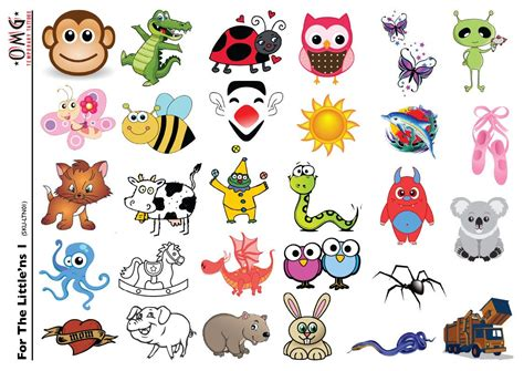 temporary tattoos omg little ns for kids 1 omg