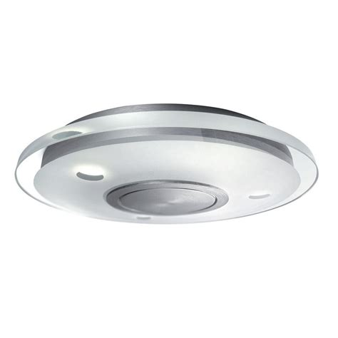 Philips Vidro 3 Light Brushed Nickel Led Ceiling Fixture Brushed Nickel Ceiling Light Fixtures