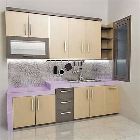 kitchen setting contoh kitchen set sederhana dapur minimalis idaman