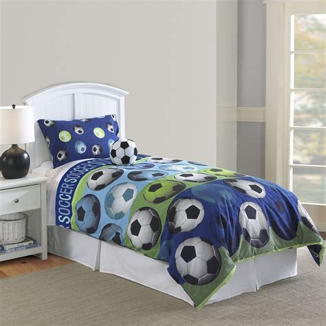 twin comforter blue hallmart collectibles 64016 hallmart kids soccer blue 3