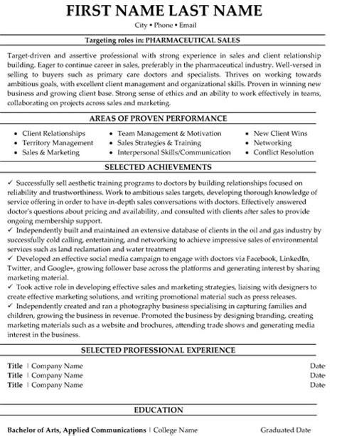 Resume Sles For Pharma Industry Top Pharmaceuticals Resume Templates Sles
