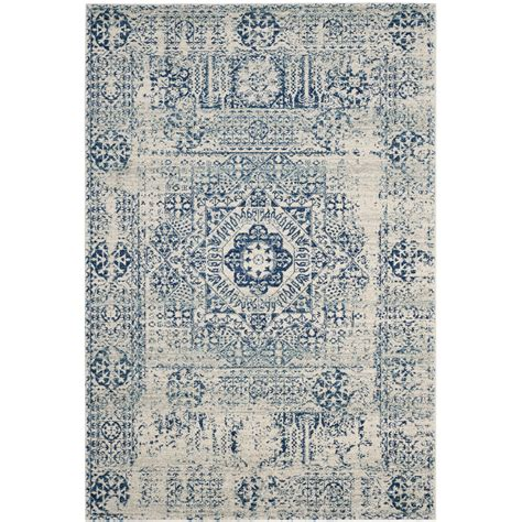 blue accent rug bungalow rose ferry ivory blue area rug reviews wayfair