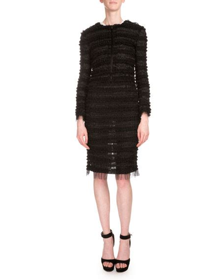 Ghivenchy Rosblack New givenchy micro ruffle embroidered jacket black neiman
