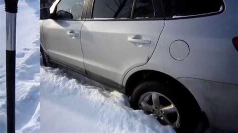 hyundai santa fe road snow