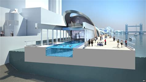 pool cross section bbc news in pictures london s floating park along the