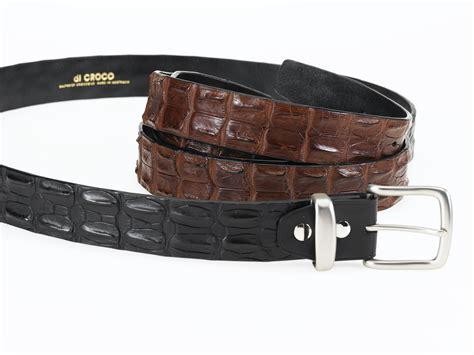 hornback belt brown black di croco