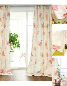 Curtains With Flowers Fresh Linen Cotton Pink Print Floral Curtains