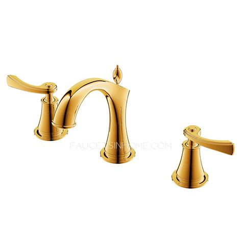Designer Polished Brass Three Holes Decorative Bathroom Decorative Bathroom Faucets