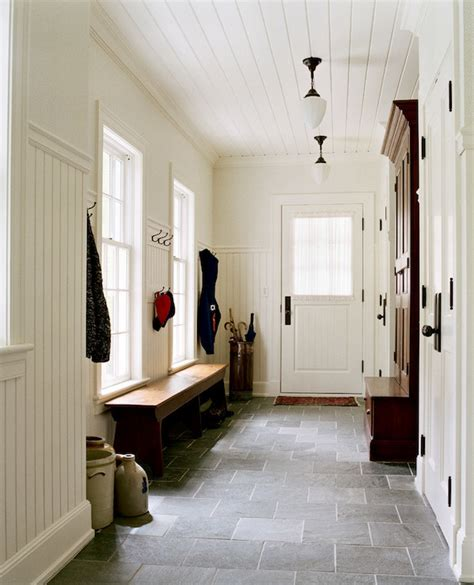 mudroom floor ideas mud room beadboard walls design ideas