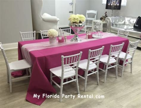 chairs and tables rentals miami rentals broward