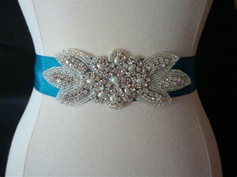 bridal sash wedding dress sash belt pearl and rhinestone