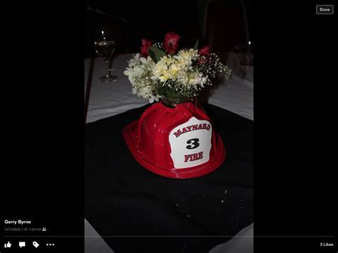 Centerpieces for firefighter retirement party   DIY
