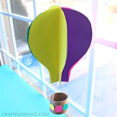 How To Make An Air Balloon Out Of Paper - spinning 3d air balloon craft for to make