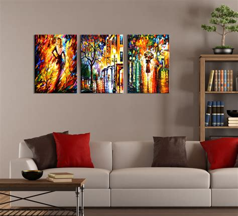 modern wall canvas modern abstract city painting 3 wall