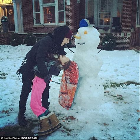 commercial woman hits snowman justin bieber and hailey baldwin enjoy dinner and designer