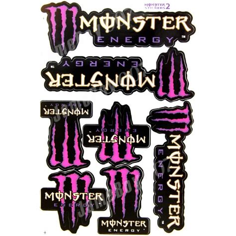 Monster Energy Aufkleber Pink by Mrs0101 Pink Purple M0nster Energy Decals Stickers