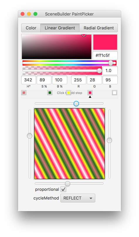 javafx is there any color gradient editor stack overflow
