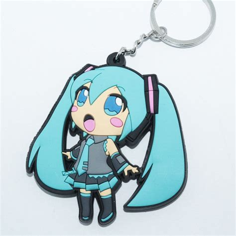 Anime Keychains by New Anime Vocaloid 初音ミク Hatsune Miku Rubber Silicone