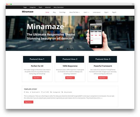 minamaze themes download wordpress premium themes
