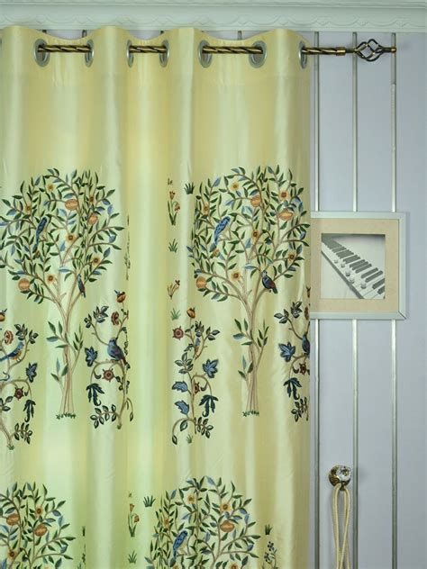 120 width curtains 120 inch extra wide morgan beige blue embroidered bird