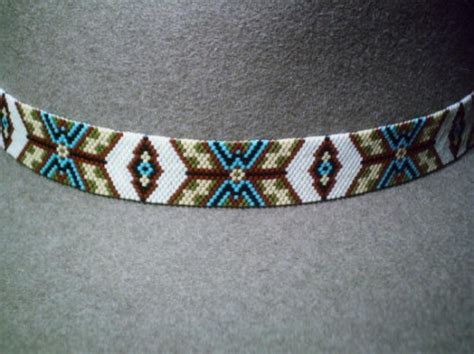 indian beaded hat band exquisite peyote american style hat band beaded