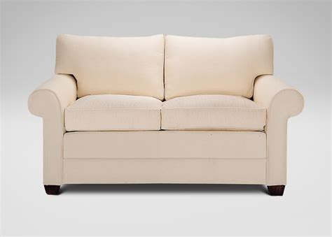 ethan allen loveseat bennett two cushion roll arm sofas and loveseat