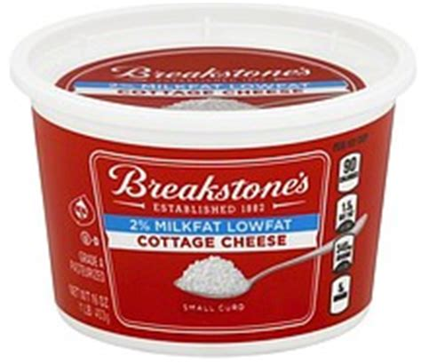 breakstone cottage cheese ingredients breakstones cottage cheese small curd 2 milkfat lowfat 16 0 oz nutrition information shopwell