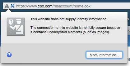 cox website not totally secure forum
