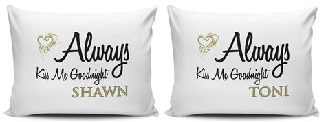 Always Me Goodnight Pillow Cases by Personalised Set Of Always Me Goodnight Pillow Cases
