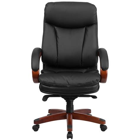 swivel office chair ergonomic home high back black leather executive swivel