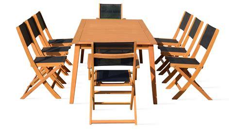 table et chaise de jardin en bois salon de jardin 8 places en bois table et chaise