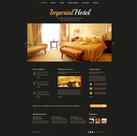 Hotels Web Template Hotel Review Template