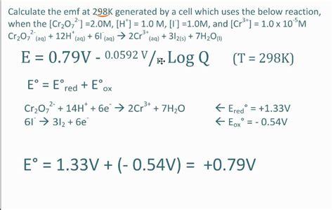 nernst equation youtube