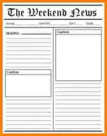 News Story Template by 5 Blank Newspaper Article Template Attorney Letterheads