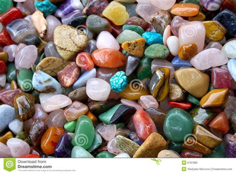 natural background pile  semi precious stones royalty