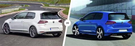 Vw Golf R Vs Gti by Vw Golf Gti Clubsport S Vs Golf R Comparison Carwow