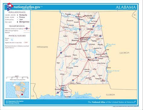 usa map alabama state large detailed map of alabama state alabama state large