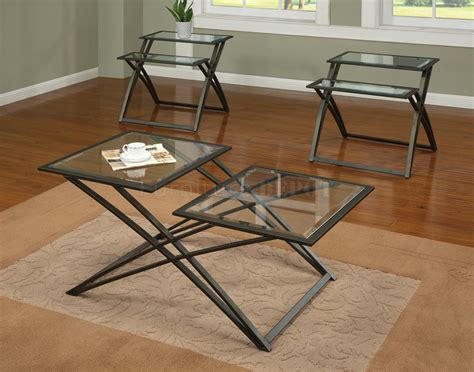 metal end table metal and glass coffee table