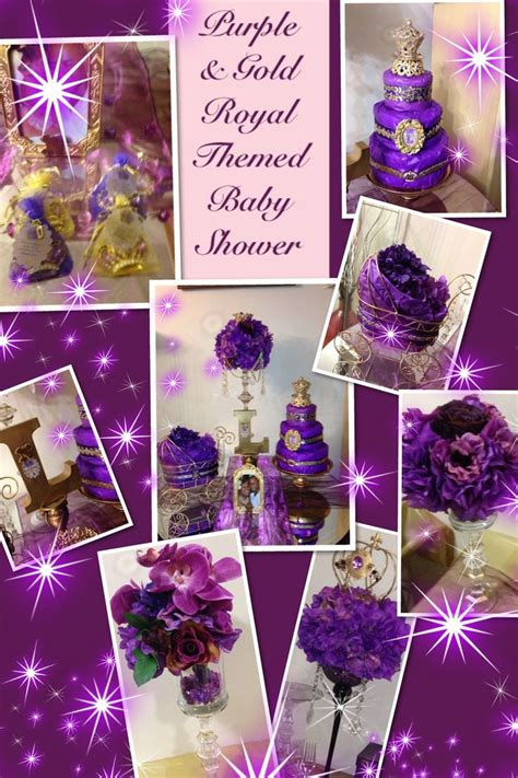 Royal Baby Shower Themes purple gold royal themed baby shower baby shower ideas